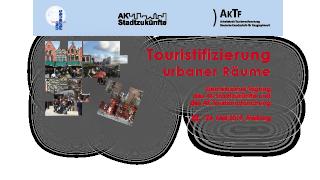 Mai 2019 - Fachtagung zur Touristifizierung urbaner Räume in Freiburg